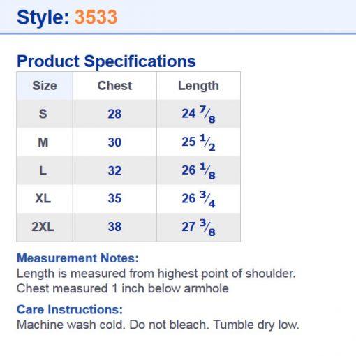 RHD3533 size chart