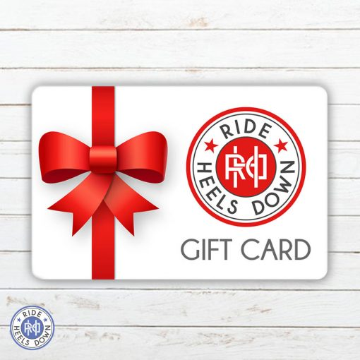 Ride Heels Down gift card for equestrian apparel