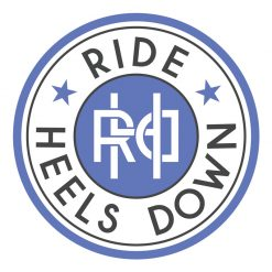 Ride Heels Down sticker