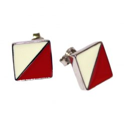 Equestrian Earrings, Jump Marker Flag Earrings