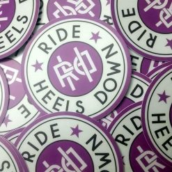 Ride Heels Down stickers