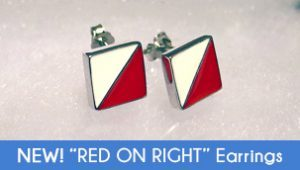 Red on Right Earrings