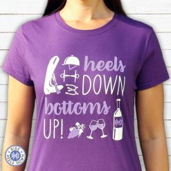 Heels Down Bottoms Up equestrian t-shirt