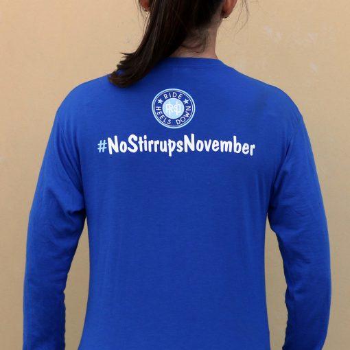 No Stirrups November t-shirt