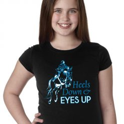 Heels Down Eyes Up Youth T-Shirt for Kids