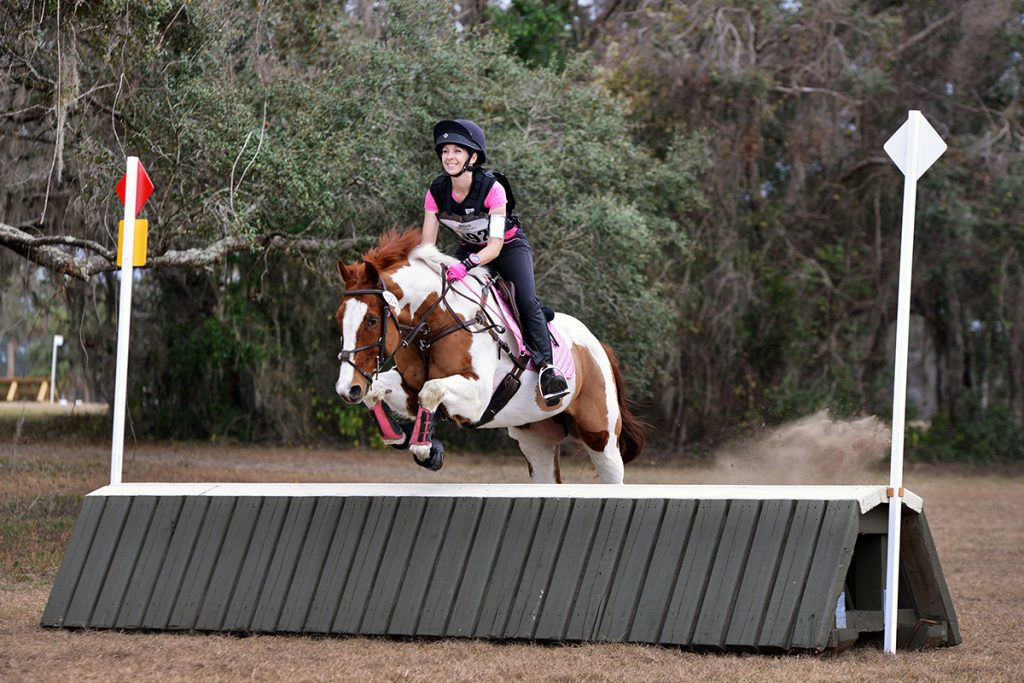 Ainsley and JJ eventing at Rocking Horse Farm in Ocala