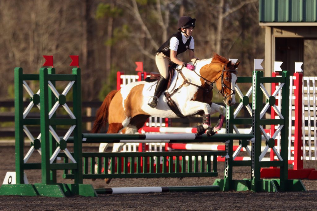 Ainsley and JJ eventing at Poplar Place Farm