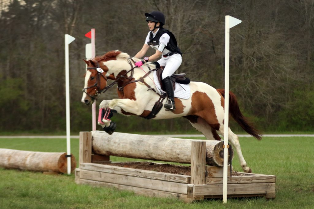 Ainsley and JJ cross country schooling at Chatt Hills Eventing