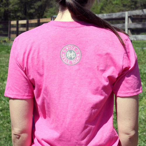 Heels Down Hold On eventing t-shirt