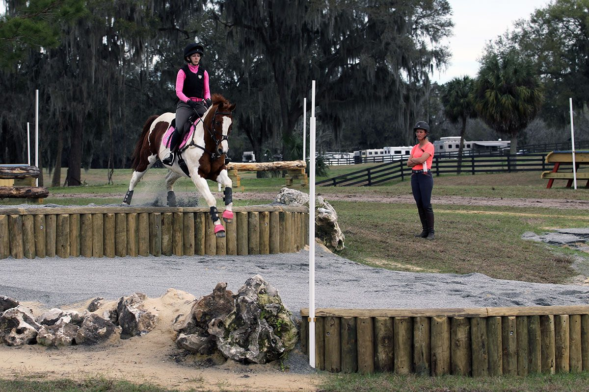 eventing down banks