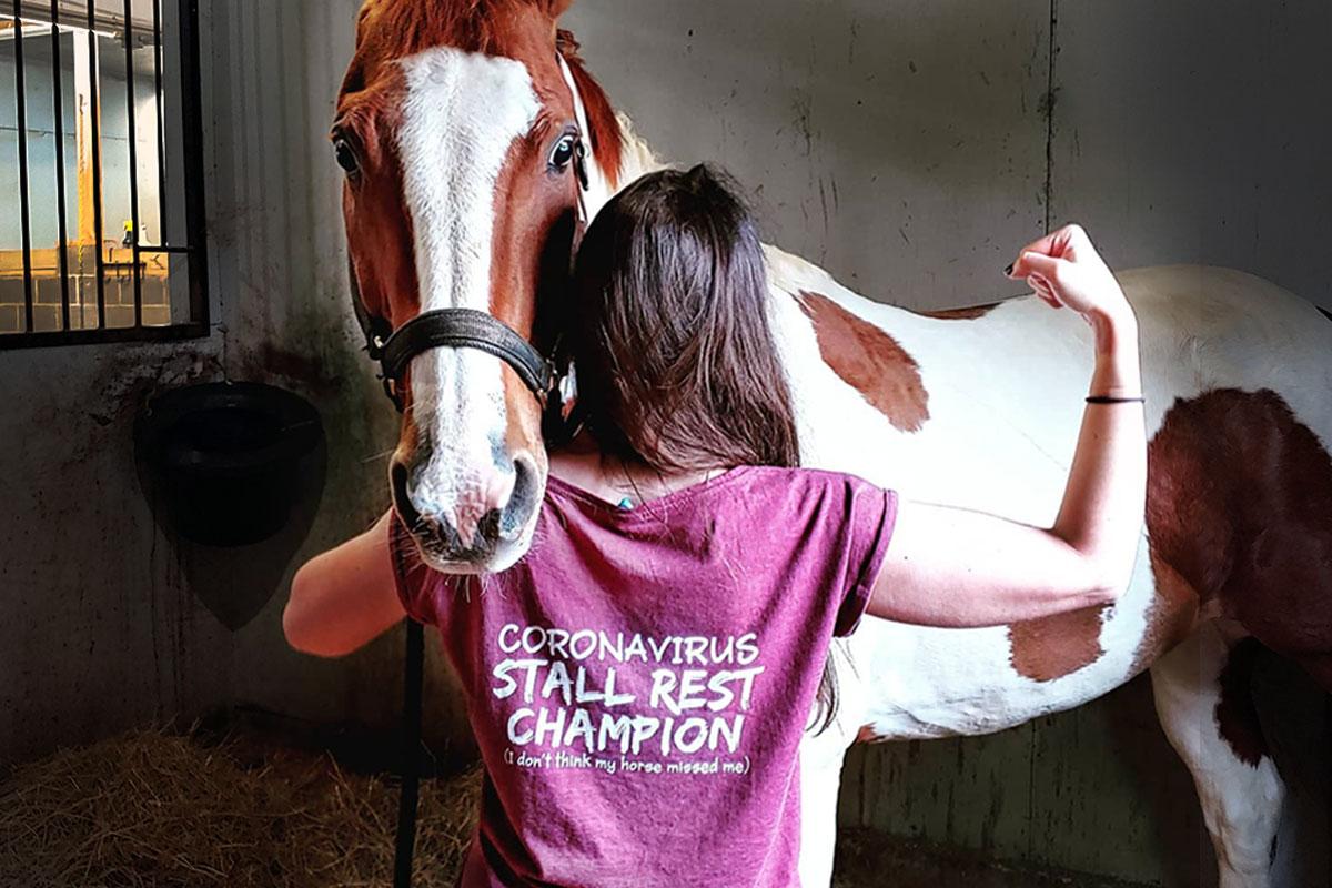 Coronavirus Stall Rest Champion t-shirt