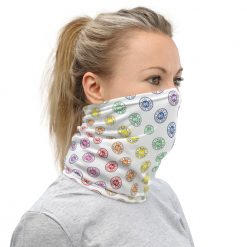 rainbow logo Ride Heels Down neck gaiter