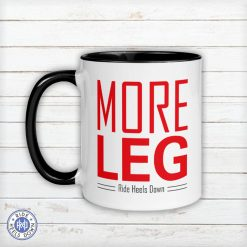 More Leg Mug red and black
