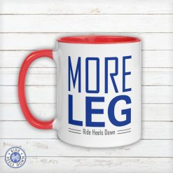 More Leg Mug red white and blue